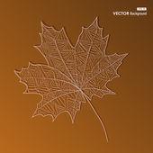 抽象的な手葉図秋の背景を描画します。eps10 f — ストックベクタ
