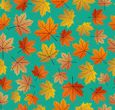 Vintage autumn leaves seamless pattern background. EPS10 file. — Stock Vector