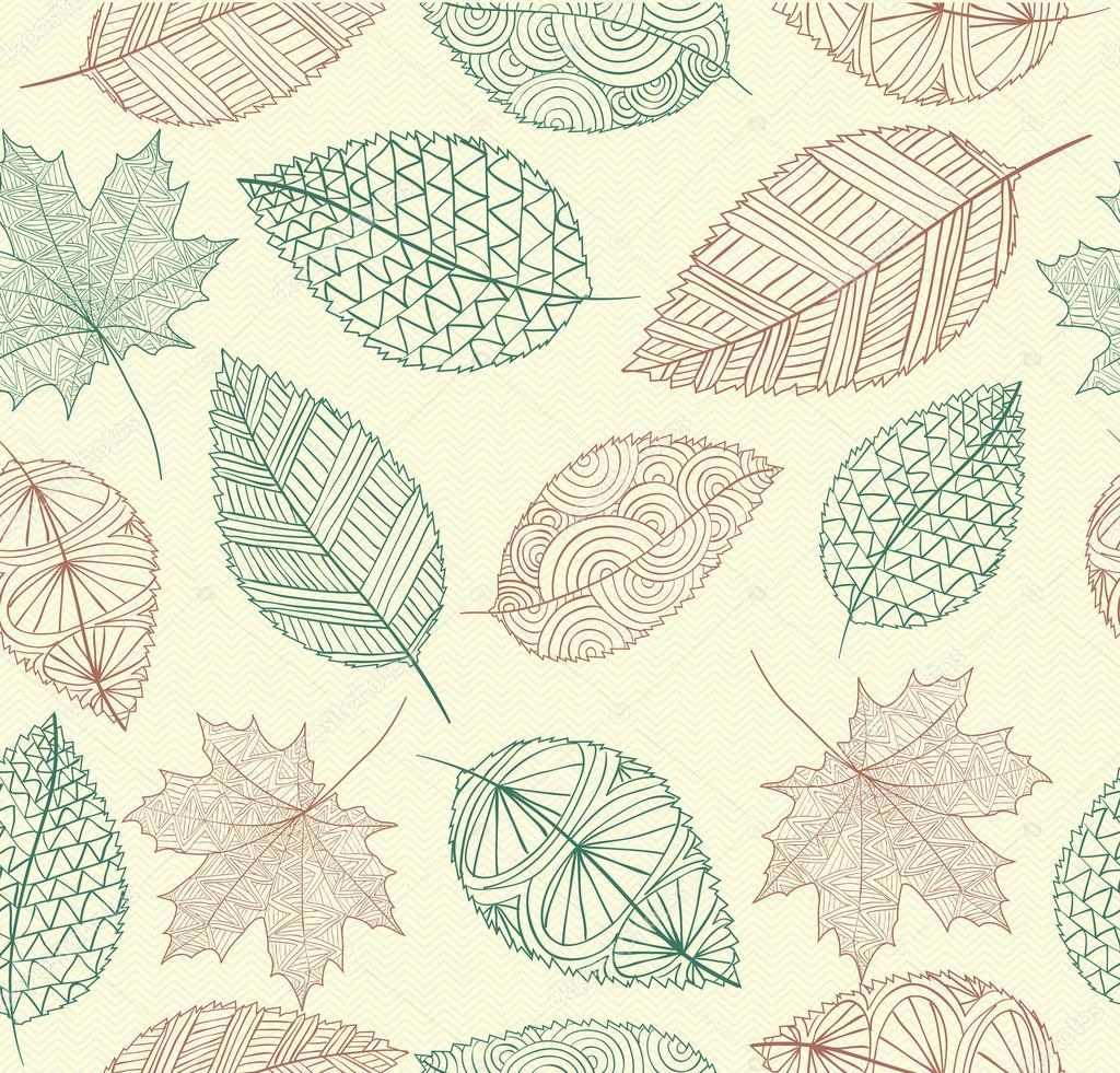 Vintage oto o dibujo deja de fondo transparente eps10 f - Descargar autumn leaves ...