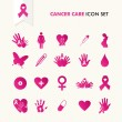 Cancer awareness elements icon set EPS10 file. — Stock Vector