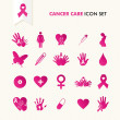 Stock Vector: Cancer awareness elements icon set EPS10 file.