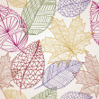 Vintage autumn leaves seamless pattern background. EPS10 file. — Vetorial Stock