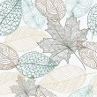 Sketch style leaves seamless pattern background. EPS10 file. — Stockvektor  #31483523