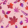 Vintage autumn leaves seamless pattern background. EPS10 file. — Stok Vektör