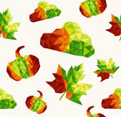 Geometric fall elements seamless pattern background. EPS10 file. — Stockvector