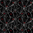 Stock Vector: Halloween spider webs seamless pattern background EPS10 file.