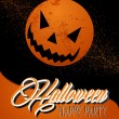 Happy Halloween full moon and pumpkin illustration EPS10 file — 图库矢量图片
