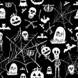 Happy Halloween elements seamless pattern background EPS10 file. — Image vectorielle
