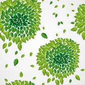 Spring time contemporary green leaves seamless pattern EPS10 fil — Stock Vector