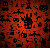 Halloween elements seamless pattern background EPS10 file. — Stock Vector