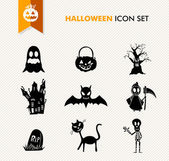 Simple Halloween icon set. — Stock Vector