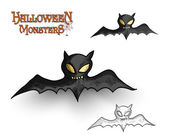 Halloween monsters spooky vampire bat illustration EPS10 file — Stock Vector