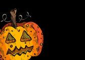 Happy Halloween old pumpkin face lantern illustration EPS10 file — Stock Vector