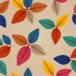 Vintage autumn leaves seamless pattern background. EPS10 file. — Wektor stockowy