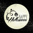 Happy Halloween full moon and pumpkin illustration EPS10 file — Vector de stock