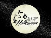 Happy Halloween full moon and pumpkin illustration EPS10 file — Stock Vector