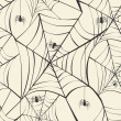 Stock Vector: Happy Halloween spider webs seamless pattern background EPS10 fi
