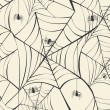 Happy Halloween spider webs seamless pattern background EPS10 fi — Stock Vector