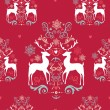 Vintage Christmas elements seamless pattern background. EPS10 fi — Stock Vector