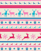 Vintage Christmas reindeers seamless pattern background. EPS10 f — Stock Vector
