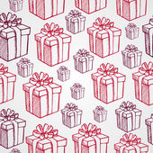 Vintage Christmas presents seamless pattern background. EPS10 fi — Stock Vector