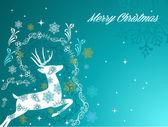 Merry Christmas beautiful vintage reindeer background EPS10 file — Stock Vector