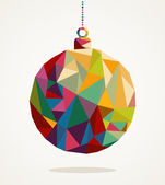 Merry Christmas circle bauble with triangle composition EPS10 fi — Stock Vector