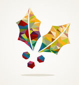 Merry Christmas mistletoe shape with triangle composition EPS10 — Stock Vector