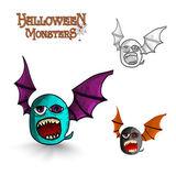 Halloween monsters freak bat EPS10 file — Stock Vector