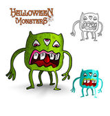 Halloween monsters four legs freak EPS10 file. — Stock Vector