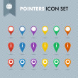 Pointers icons set EPS10 vector file. — Stock Vector