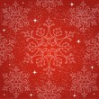 Merry Christmas snowflakes seamless pattern background. — Stock Vector
