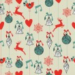 Merry Christmas seamless pattern background. — Stock Vector