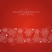 Feliz frontera de elementos navidad snowflakes decoraciones. — Vector de stock