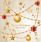 Merry Christmas elements background EPS10 vector file. — Stock Vector