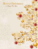 Luxury Merry Christmas tree background EPS10 vector file. — Stock Vector