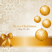 Luxury Merry Christmas background EPS10 vector file. — Stock Vector