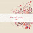 Christmas text, vintage elements abstract composition. — Stock Vector #33500987
