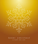Luxury Merry Christmas snowflake background EPS10 vector file. — Stock Vector