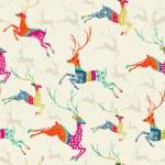 Merry Christmas reindeer seamless pattern vector file. — Stock Vector #34106653