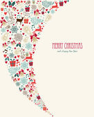 Merry Christmas vintage elements composition — Stock Vector