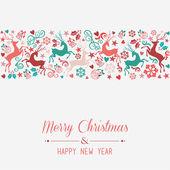 メリー クリスマスと幸せな新年のグリーティング カード — ストックベクタ