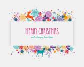 Frohe weihnachten bunte banner — Stockvektor