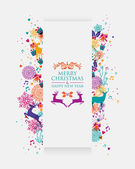 Merry Christmas colorful 3D banner — Stock Vector