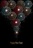 Gott nytt år fyrverkerier bakgrund — Stockvektor