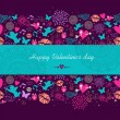 Happy Valentines day banner background — Stock Vector