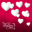 Valentines day hearts love greeting card — Stock Vector