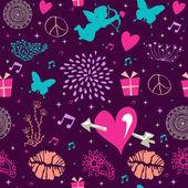 Valentines day vintage seamless pattern design — Stockvektor