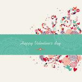 Walentynki kartkę z życzeniami transparent — Wektor stockowy