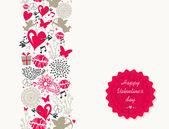 Sztuka Walentynki dzień powitanie karta — Wektor stockowy